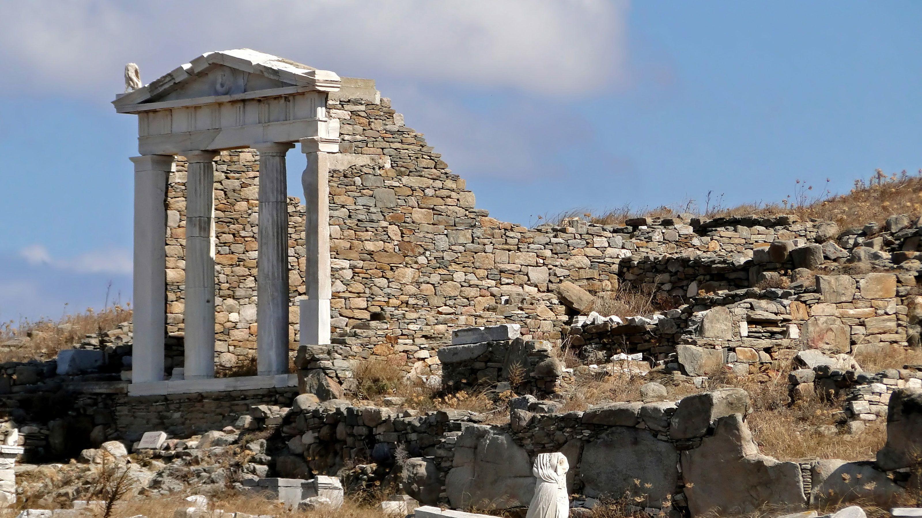 Temple ruins in Mykonos