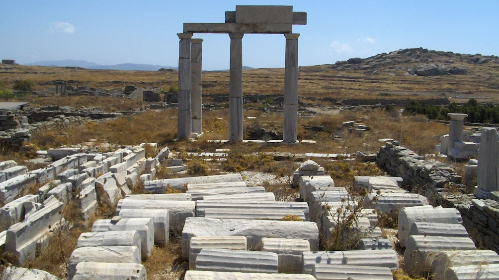Show item 2 of 5. Remains of a temple in Mykonos