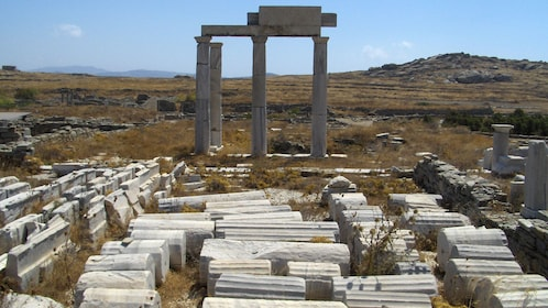 Remains of a temple in Mykonos