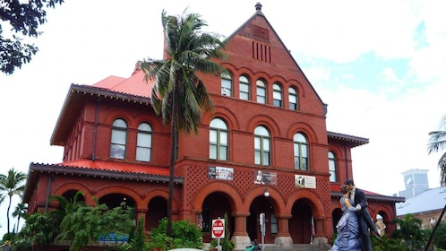 a red brick building at Old Town in Key West