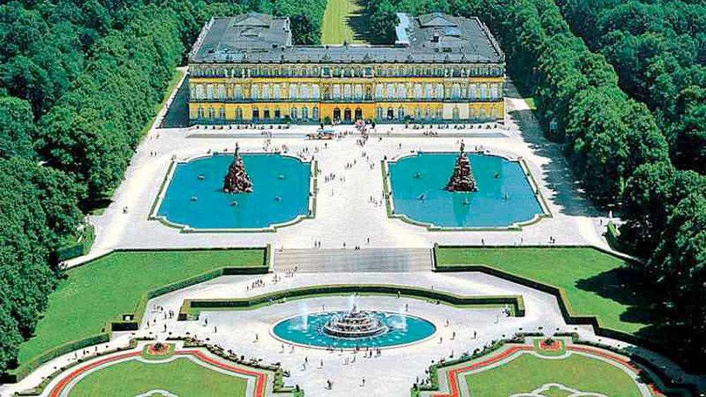 aerial view of the Herrenchiemsee Castle estate in Germany