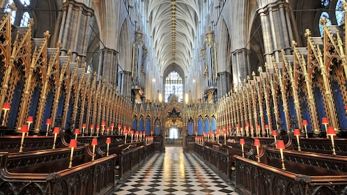 Interior of Westminster Abbey in London