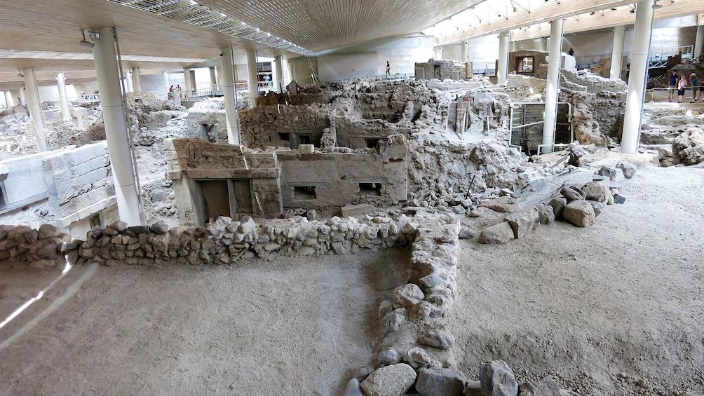 Show item 3 of 5. old excavated  ruins in Santorini