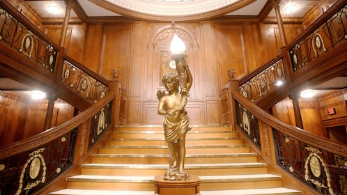 Staircase at Titanic The Experience in Orlando