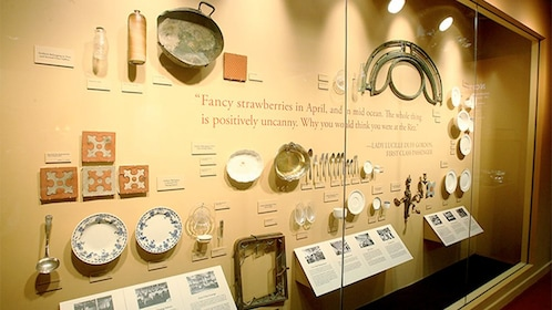 Artifacts on display at the Titanic The Experience Museum in Orlando