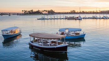 Aluguel de barco elétrico autoguiado em 18 Snug Harbor
