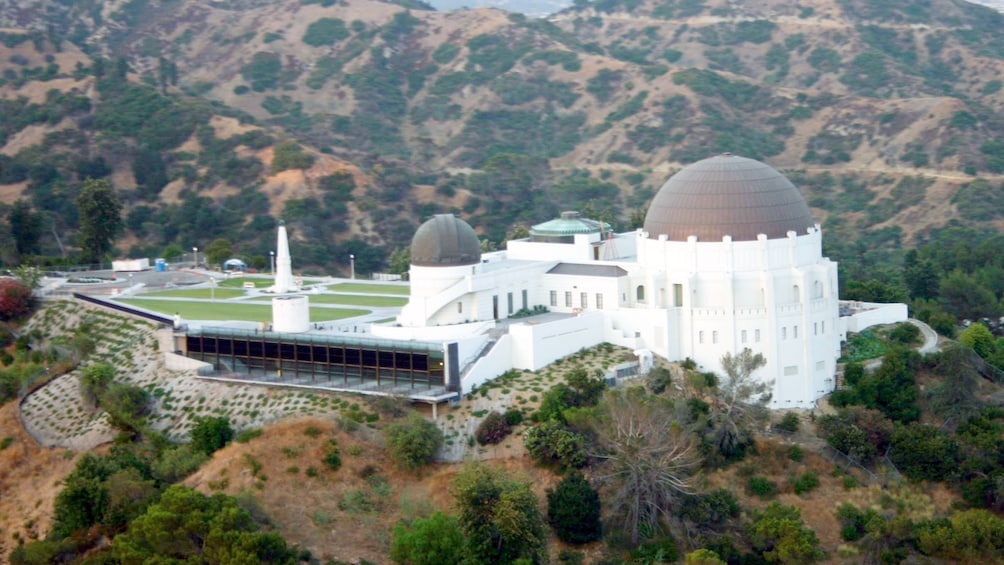Show item 5 of 5. Aerial view of Griffith Observatory in Los Angeles