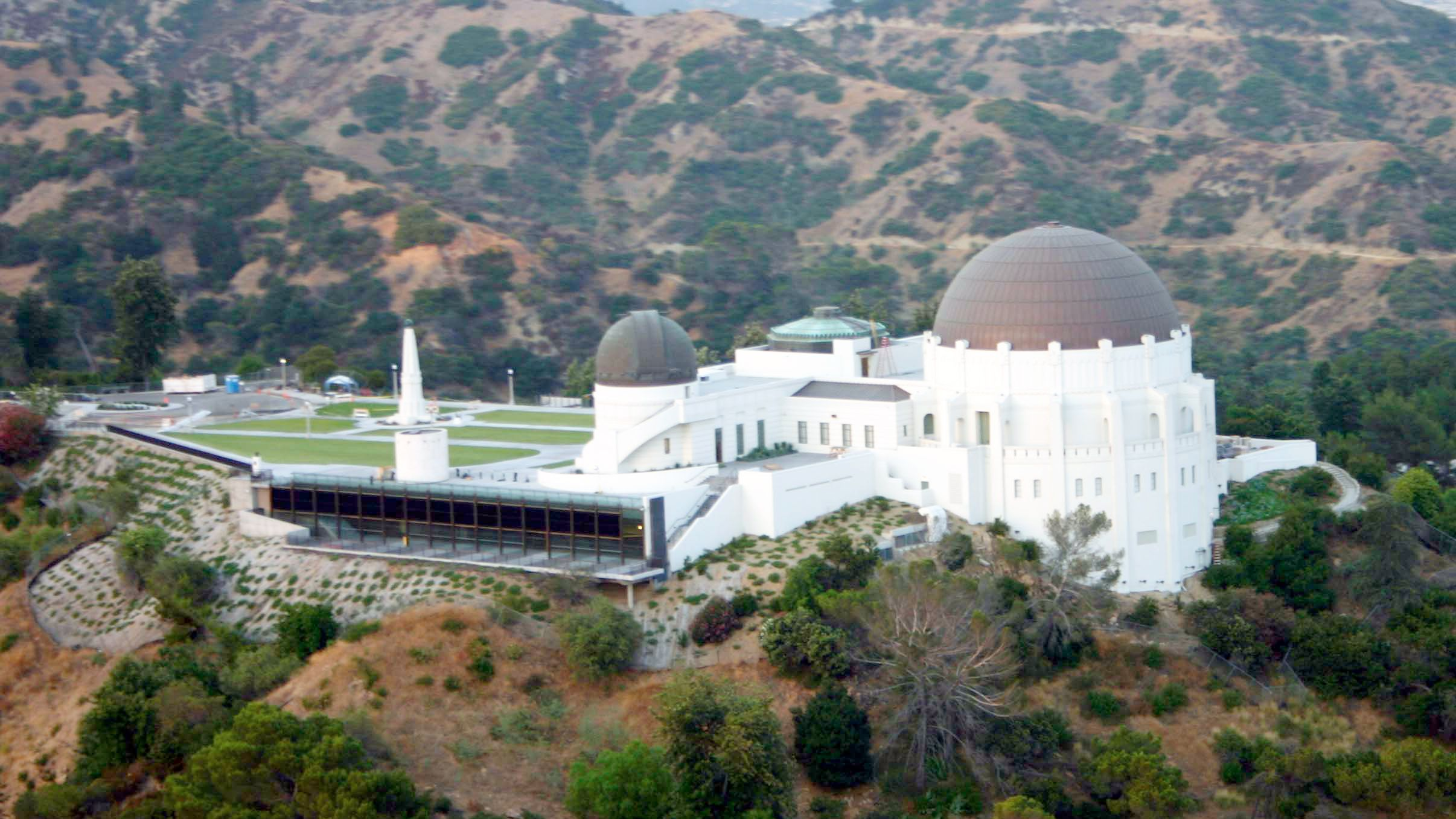 Aerial view of Griffith Observatory in Los Angeles during the day