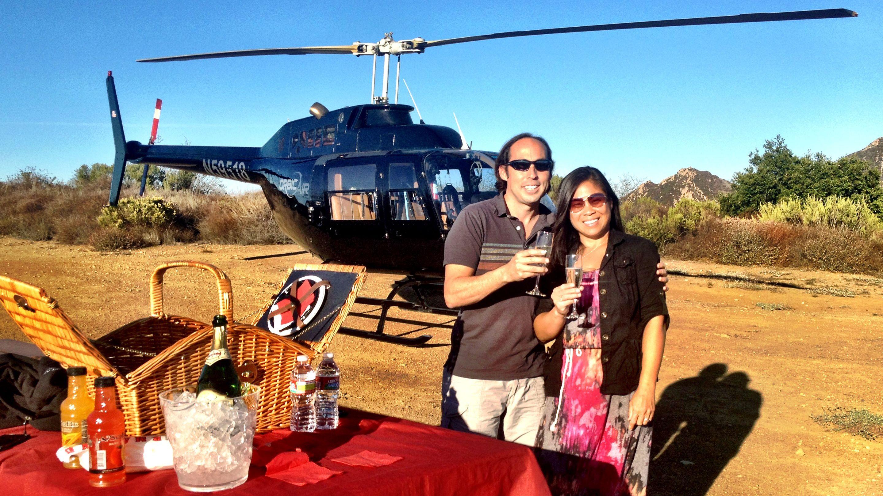 Hubschrauberflug mit exklusiver Berglandung