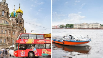 Hop-on-Hop-off-Bustour durch Sankt Petersburg