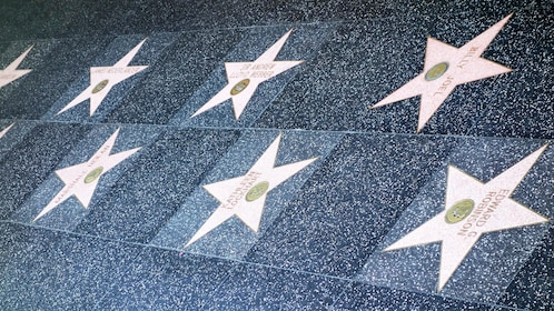 Close view of Hollywood Wall of Fame in Los Angeles