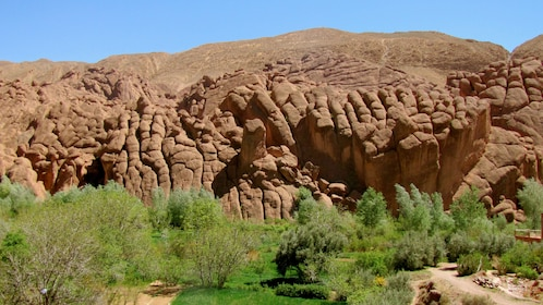 Stunning view of the rock formations in Marrakech