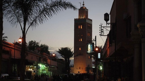 Night view of Marrakech