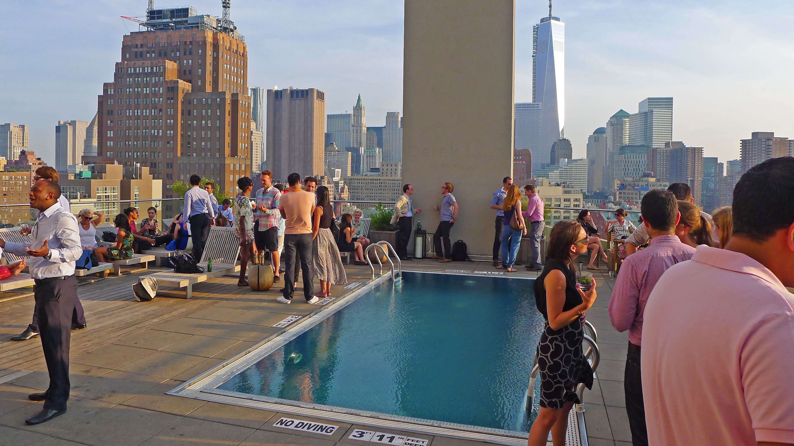 Rooftop view of guests enjoying their experience in New York