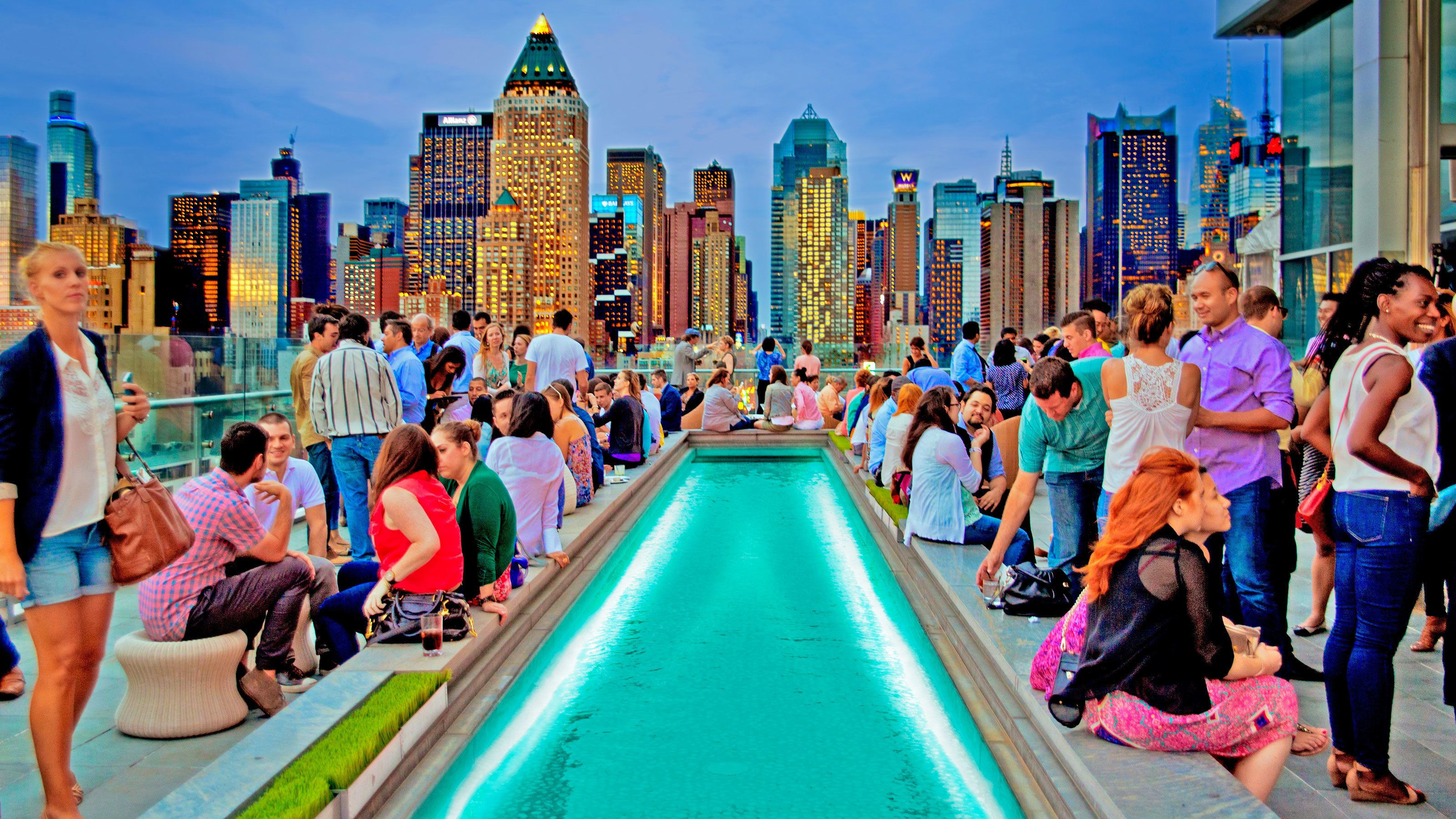 View of Rooftop Lounge Experience in New York