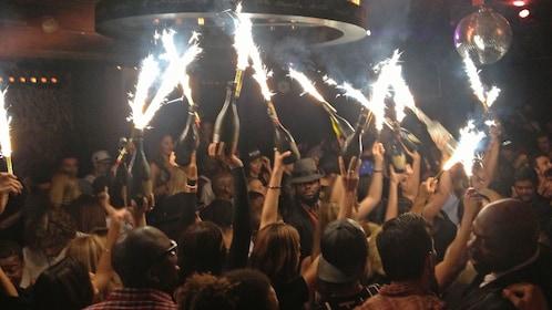 Dancefloor at one of New York's hottest nightclubs