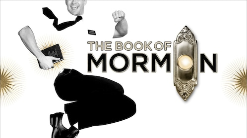 Promotional poster for The Book of Mormon show on Broadway