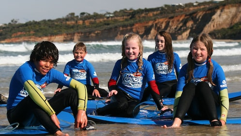 Kids on the Anglesea Surfing Lesson by Go Ride a Wave in Great Ocean Road