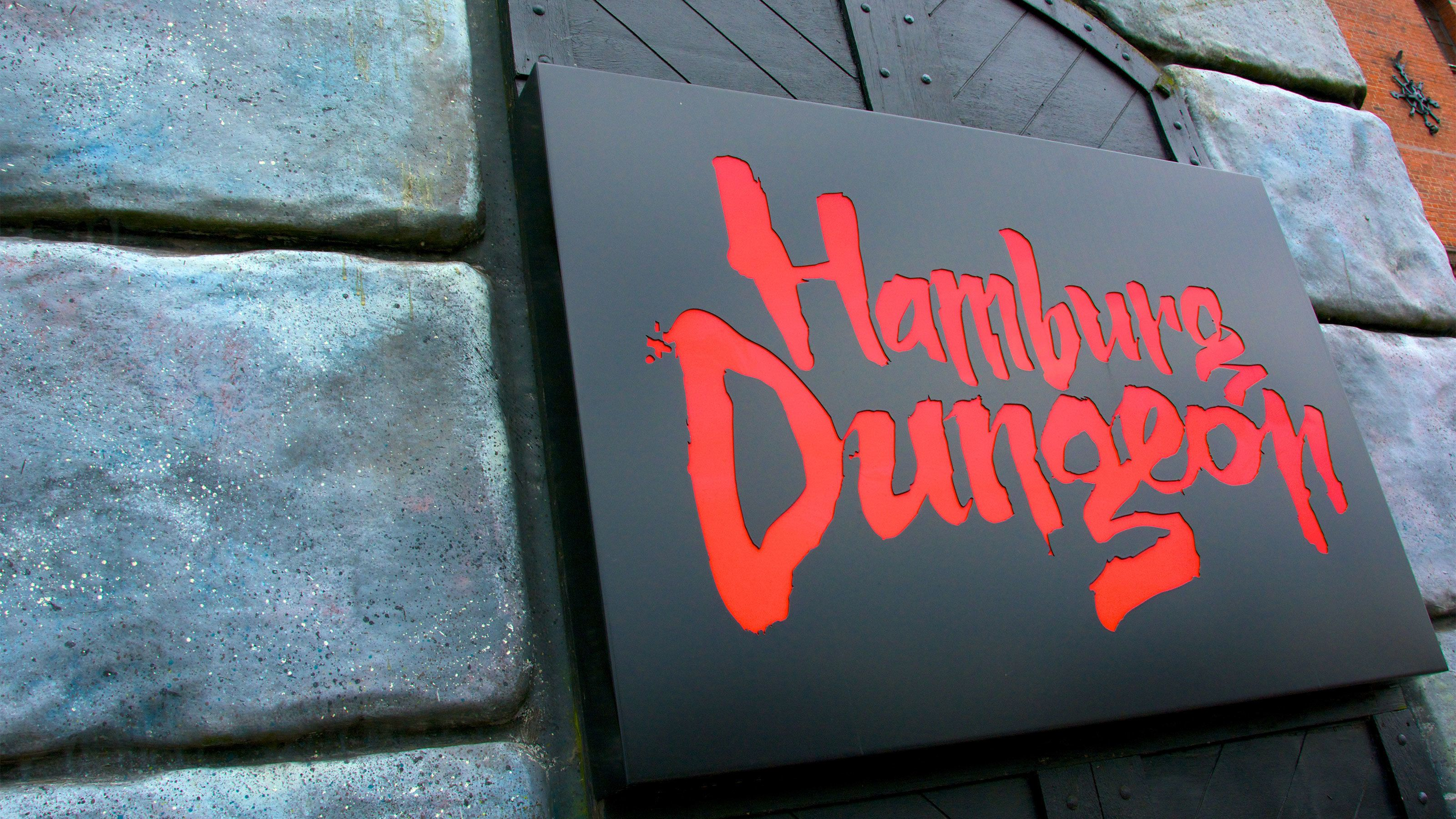 Sign for Hamburg Dungeon