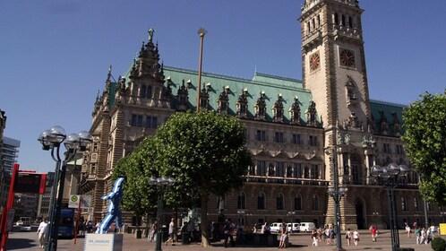 City street view of Hamburg
