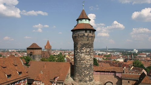Aerial view of the Nuremberg Castle in Munich