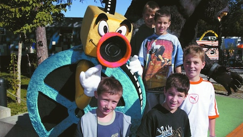 Kids at the The Bavaria Film City in Munich