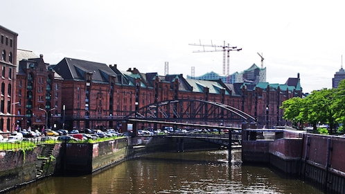 Water front view in Hamburg Germany