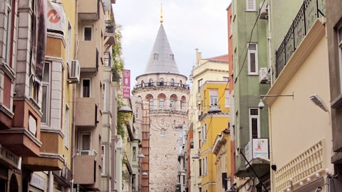 Close view of the Byzantine hillside district of Galata