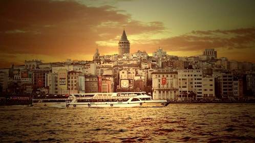 Stunning water view of the Byzantine hillside district of Galata