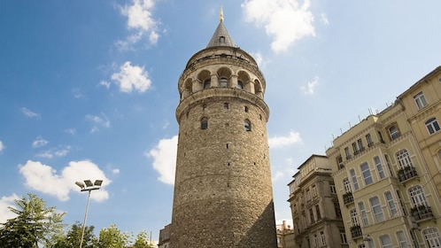 Stunning view of the Galata Tower Historical Place in Istanbul