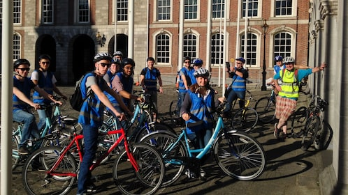 Group on a day bike tour of Dublin