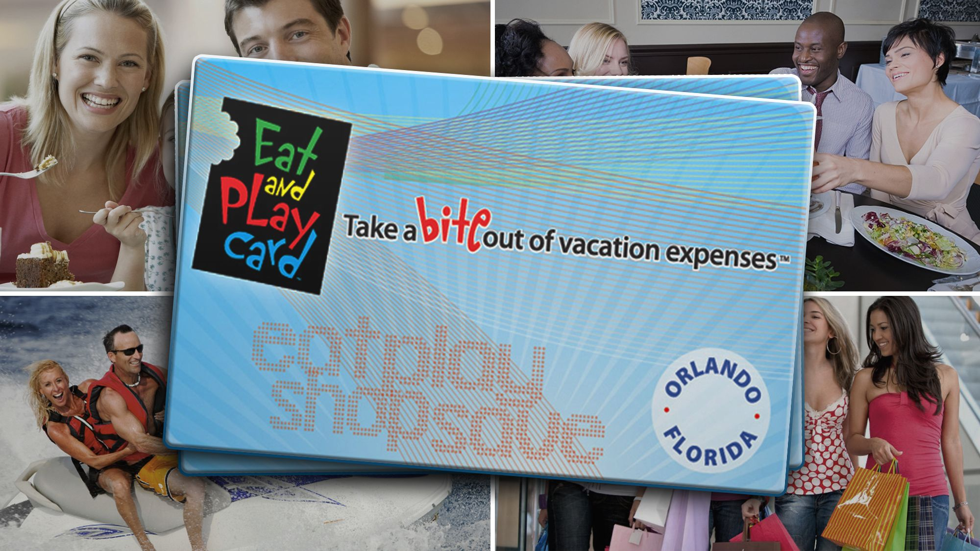 Eat and Play Card – 1 Card for 4 Travelers