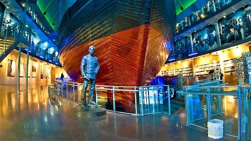 Inside the Fram Polar Ship Museum in Oslo