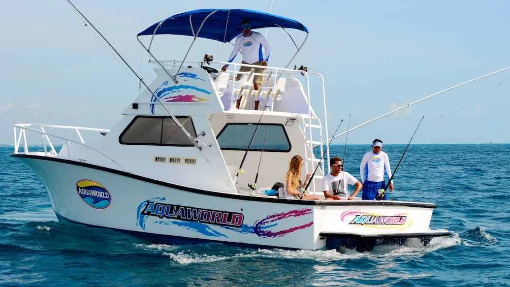 Show item 4 of 11. Boat fishing trip in Cancun