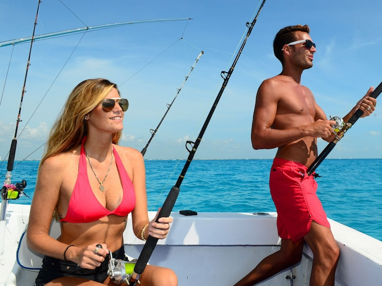 Show item 1 of 11. Private Fishing Charter from Cancun