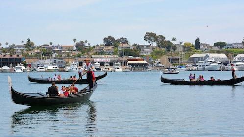 Gondolas on the water near Los Angeles