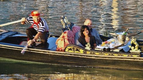 Couple in Gondola in Los Angeles