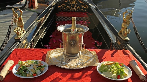 Table setting on Gondola ride in Los Angeles