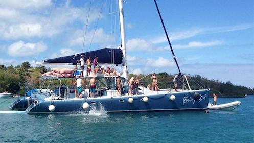 Catamaran with passengers in Bermuda