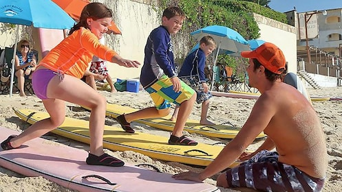 Kids surf simulation on land in Lose Cabos
