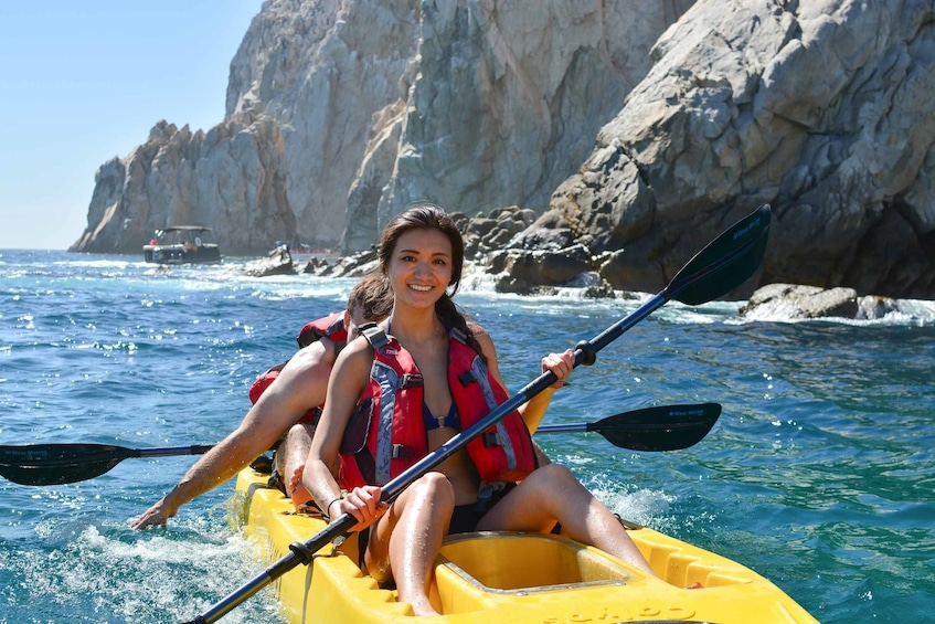 Show item 3 of 10. Glass-Bottom Kayak Excursion & Snorkeling at the Arch