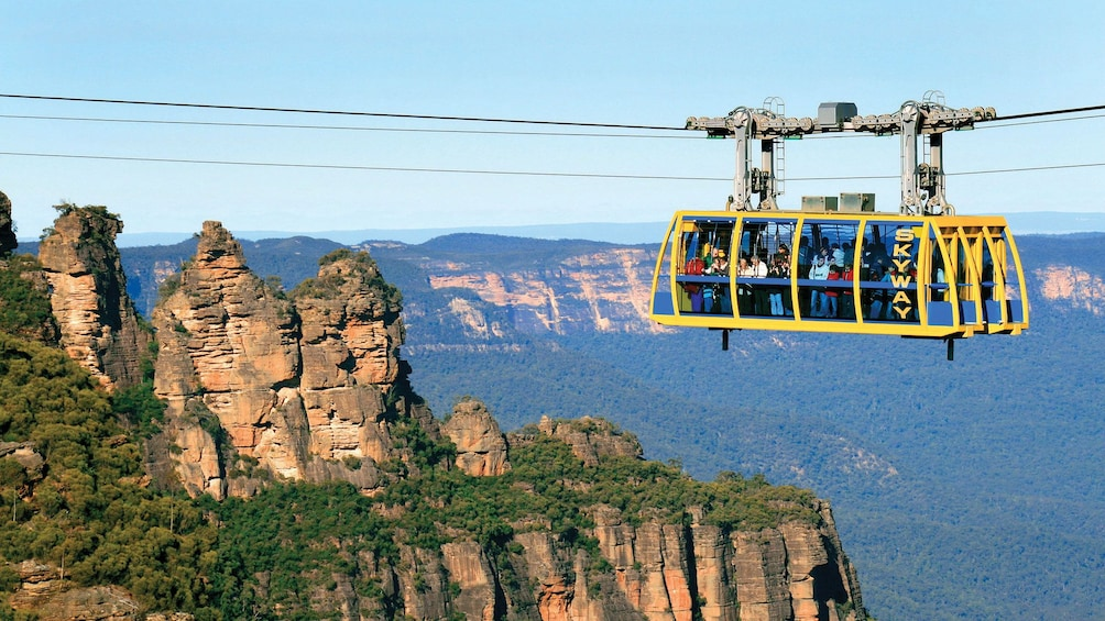 Show item 1 of 10. observing the rocky mountaintops from the cablecar in Australia
