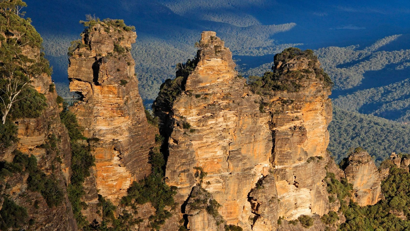 jagged mountaintops in Australia