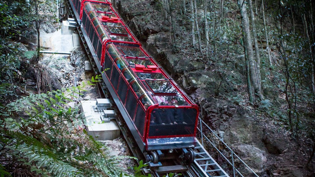 taking the tour passenger train through the wilderness in Australia