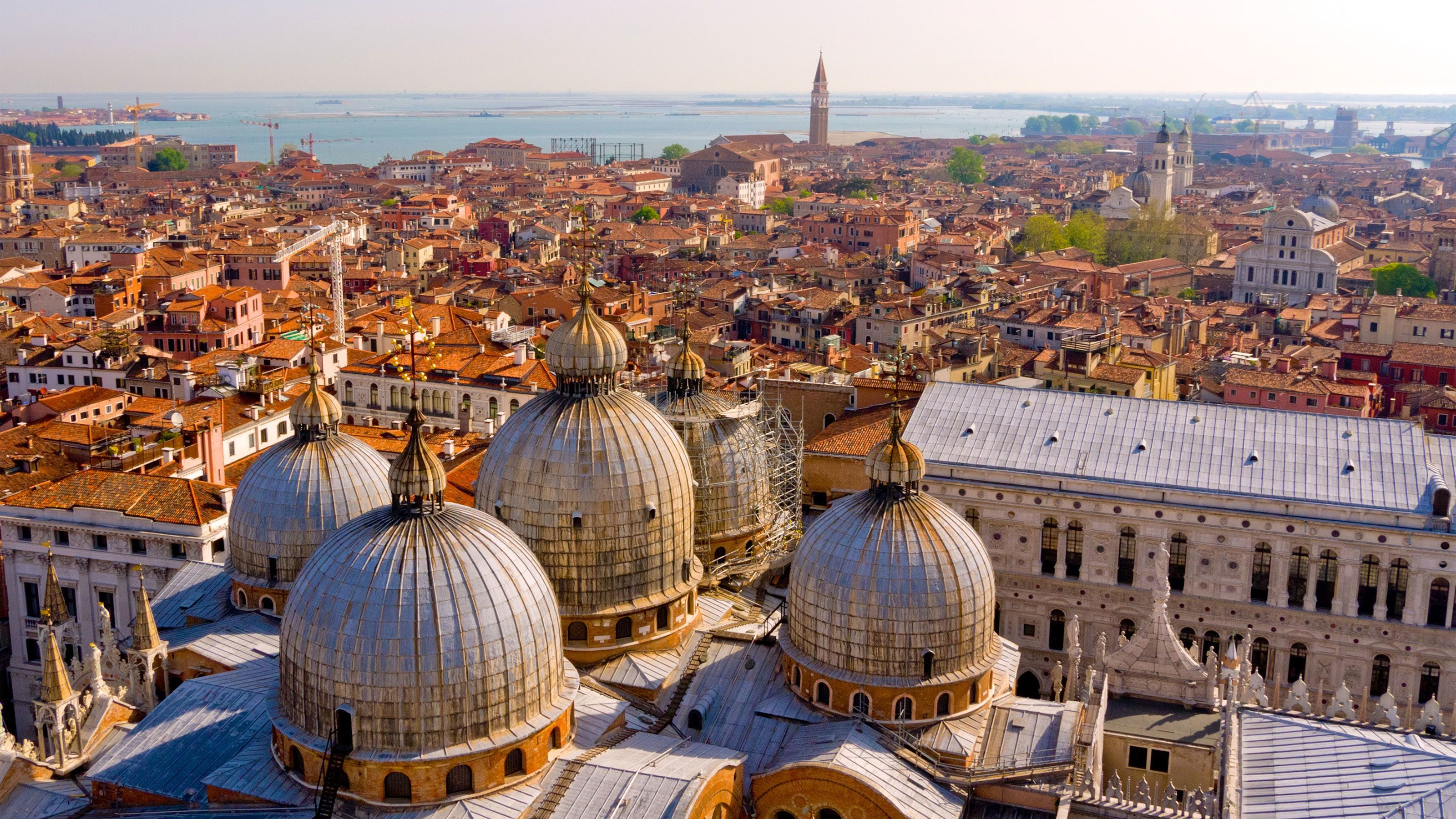 the domed structure of Saint Mark's Basilica in Venice