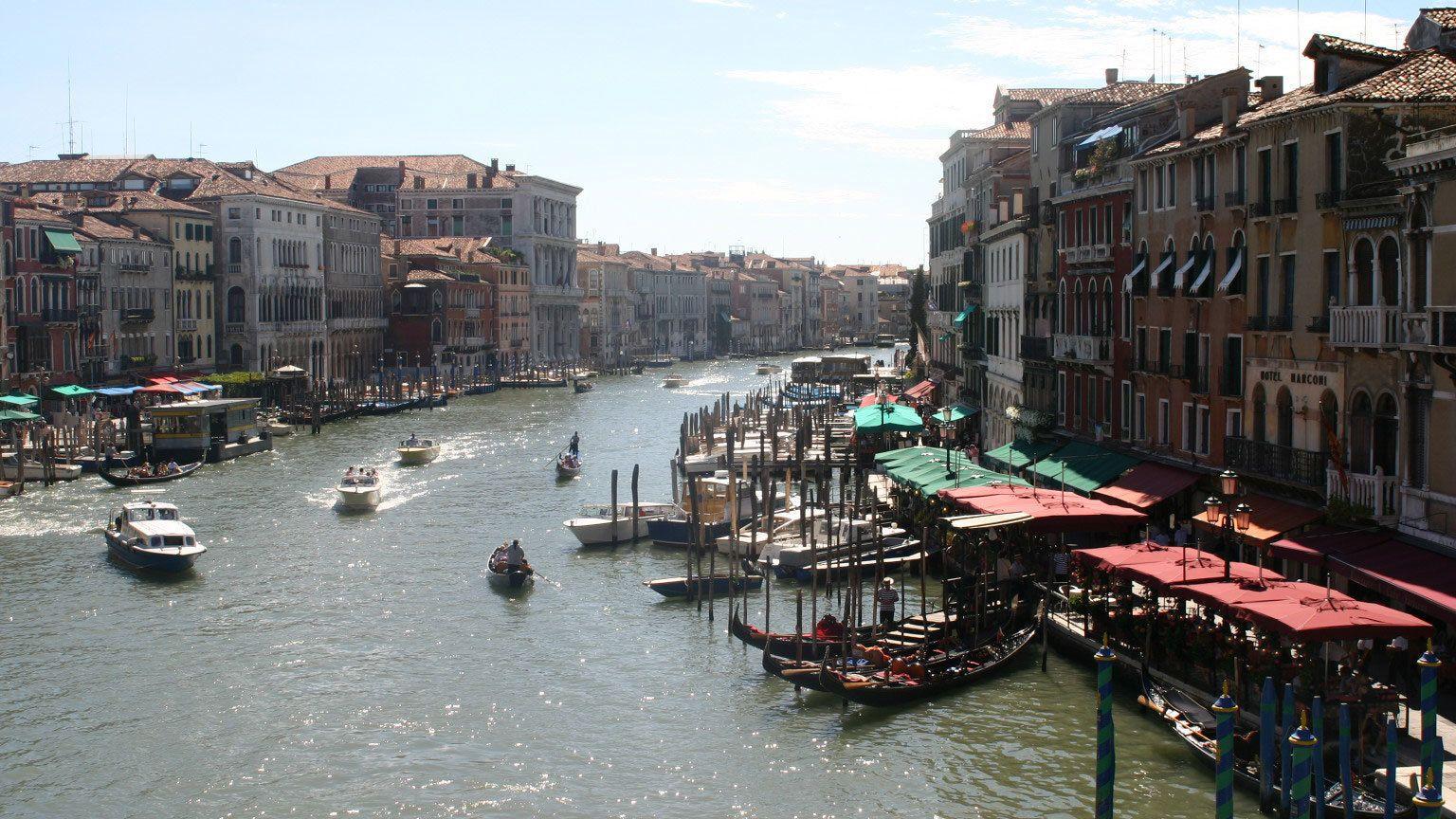 navigating the waterways in Venice