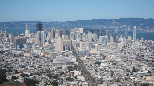 Aerial view of the city of San Francisco