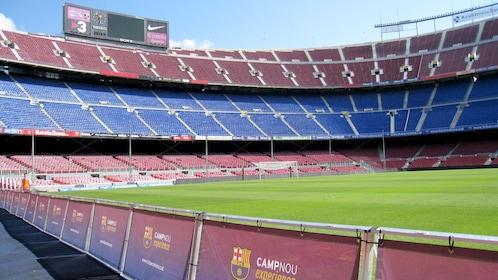 Bottom level view of Camp Nou in Costa Brava