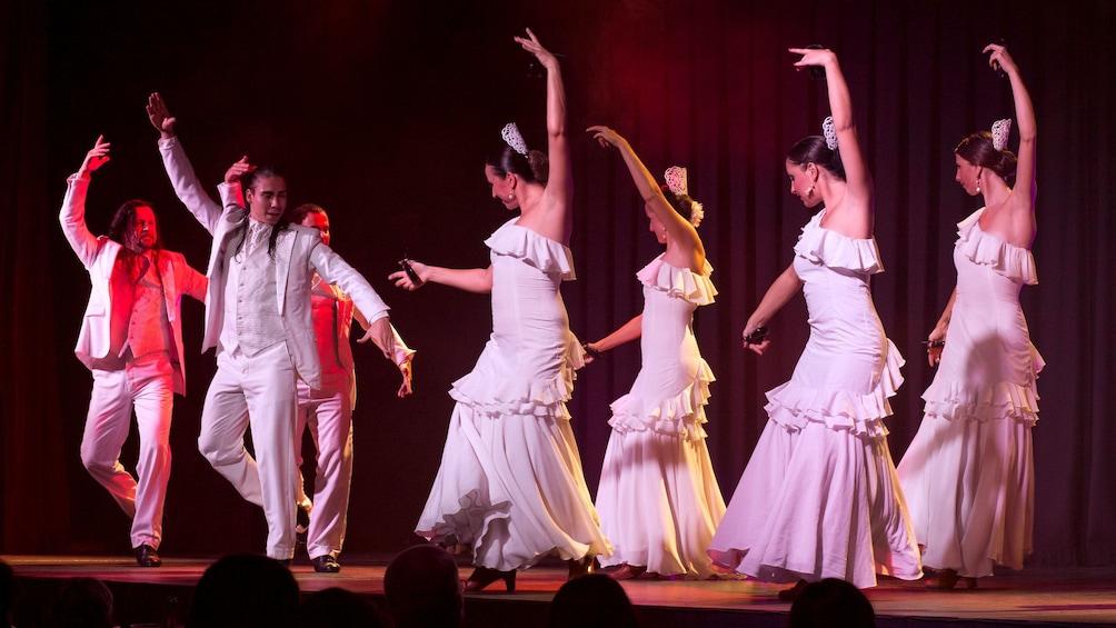 Show item 1 of 5. Dancers at the Live Flamenco Show at Gran Casino Costa Brava