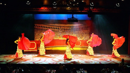 Women dancing at the Live Flamenco Show at Gran Casino Costa Brava